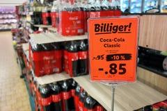 可口可乐在德国商店 免版税库存照片