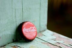 可口可乐在热带 库存照片