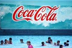 可口可乐广告牌 免版税库存照片