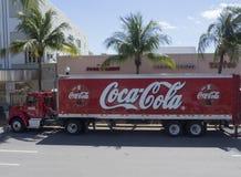 可口可乐送货卡车 库存照片