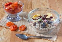 可口和健康早餐 库存图片