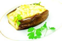 可口和健康食物:被充塞的茄子 库存图片