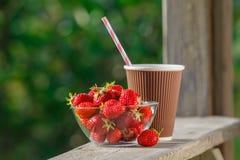 可口和开胃草莓 库存照片