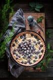 可口和甜黑莓饼由新鲜水果制成 库存图片