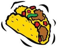 可口墨西哥炸玉米饼 向量例证