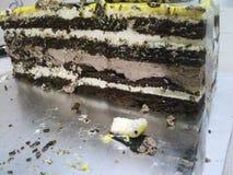 可口奶油色蛋糕 库存图片
