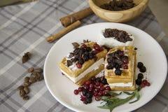可口奶蛋烘饼用莓果04 免版税图库摄影