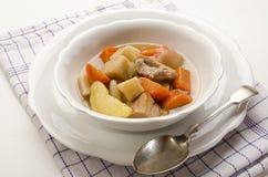 可口家做了在一个白色碗的爱尔兰人的菜肴 免版税库存照片
