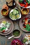 可口家庭晚餐 免版税图库摄影