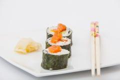 可口寿司卷 免版税图库摄影