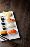可口寿司膳食 库存照片