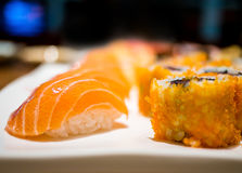 可口寿司 免版税库存照片