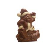 可口巧克力圣诞老人的图象 免版税库存图片