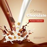 可口巧克力现实例证 图库摄影