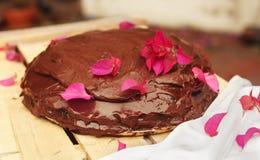 可口巧克力蛋糕选择聚焦 库存照片