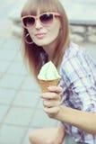 可口开心果冰淇凌 免版税库存图片