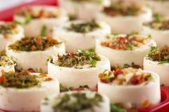 可口开胃菜用乳酪 免版税库存图片