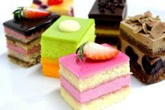 可口微型的蛋糕 免版税图库摄影