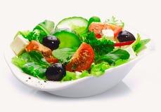 可口新鲜的希腊沙拉 免版税库存图片