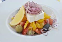 可口新鲜的希腊沙拉 库存照片