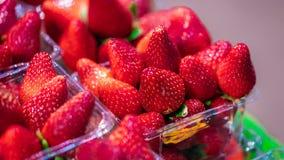 可口新鲜的有机草莓果子 库存图片