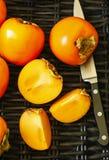 可口新鲜的柿子果子 图库摄影
