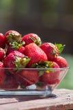 可口新鲜的草莓 免版税库存图片