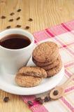 可口曲奇饼和咖啡 图库摄影