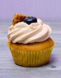可口杯形蛋糕用蓝莓 免版税库存图片