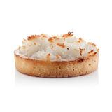 在白色隔绝的椰子单独饼 免版税库存图片
