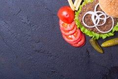 可口汉堡用牛肉 免版税库存图片