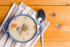 可口汤开胃菜用丸子 库存图片