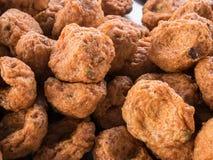 可口油煎的鱼酱球 & x28; 泰国food& x29; 库存图片