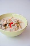 可口泰国食物电话汤姆KHA KAI 免版税库存照片