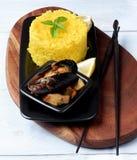 可口海鲜咖喱 图库摄影
