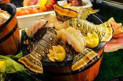 可口海鲜盛肉盘 库存图片