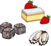 可口澳大利亚食物的汇集在光栅的 免版税库存图片