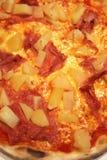 可口火腿菠萝薄饼蒜味咸腊肠 免版税库存图片