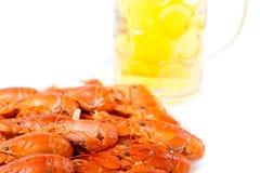 大虾食家海鲜膳食  免版税库存图片