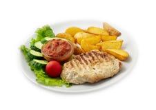 可口牛肉饭食salat 免版税库存图片