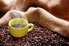 可口的咖啡 免版税库存照片