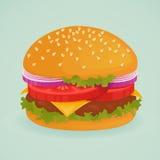 可口的汉堡 库存照片