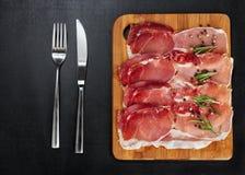 可口的烟肉 免版税库存照片