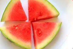 可口红色水多的西瓜 免版税库存图片