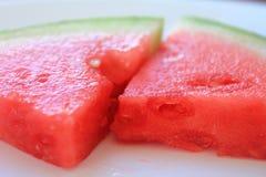 可口红色水多的西瓜 免版税库存照片