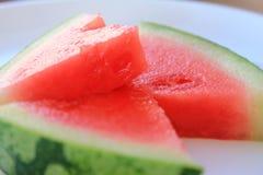 可口红色水多的西瓜 库存照片