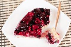 可口自创蛋糕用新鲜的浆果 库存照片