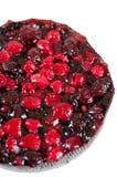 可口自创蛋糕用新鲜的浆果 免版税库存图片