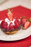 可口草莓果子馅饼 免版税库存照片