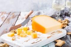可口荷兰扁圆形干酪 图库摄影